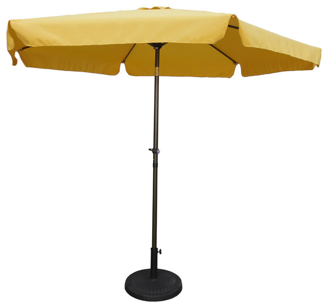 Outdoor 9 Foot Aluminum Umbrella With Flaps Contemporary