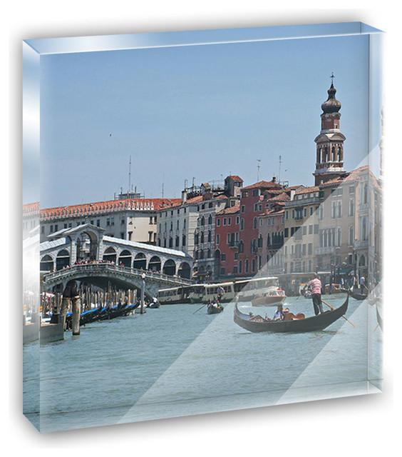 Rialto Bridge Venice Italy Mini Desk Plaque and Paperweight contemporary-decorative-accents