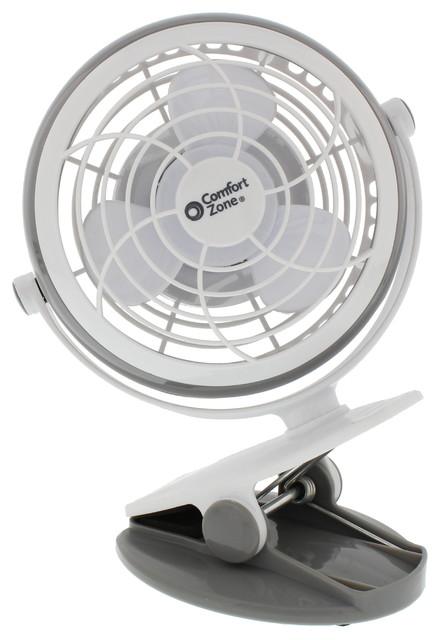 """4"""" Usb Desk Clip Fan, Gray."""