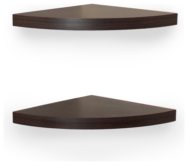 Danya B Veneer Corner Radial Shelves Set of 2 Display  : contemporary display and wall shelves from www.houzz.com size 640 x 562 jpeg 33kB