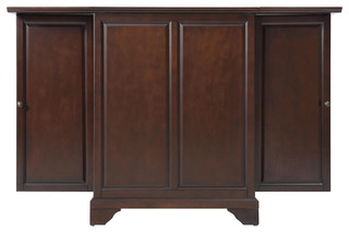 Lafayette Expandable Bar Cabinet, Vintage Mahogany - Traditional - Wine And Bar Cabinets - by ...