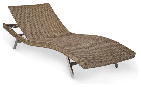 Wicker Chaise Lounge, Outdoor Patio Furniture, Gingko Contemporary Outdoor  Chaise Lounges