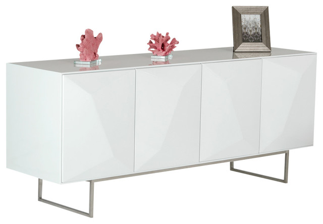 vanguard modern white buffet modern buffets and sideboards by la furniture store. Black Bedroom Furniture Sets. Home Design Ideas