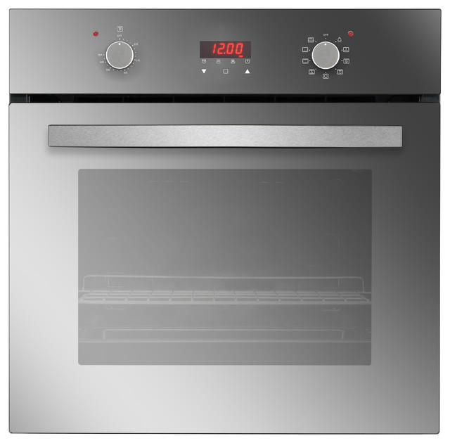 """Empava 24"""" Tempered Glass Electric Built-in Single Wall Oven, 220v"""