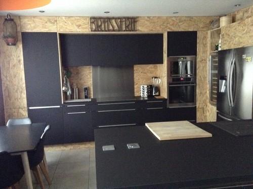Relativ Alliance de l'osb et du noir pour une cuisine . MS41