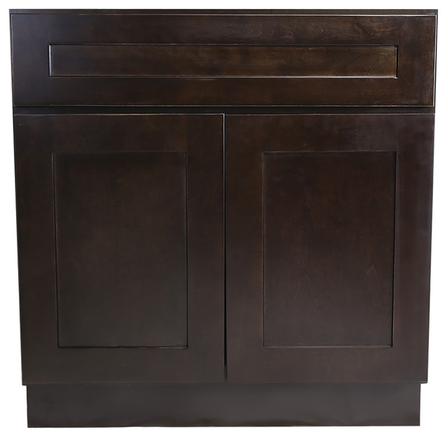 Design house brookings sink base cabinet espresso shaker for 48 sink base kitchen cabinets