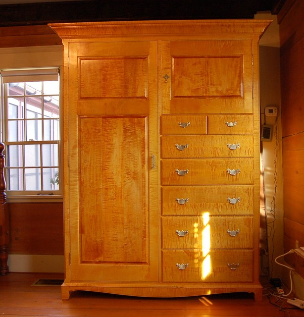 Curly Maple Armoire - Traditional - Boston - by New Hampshire Accents Fine Crafts,LLC