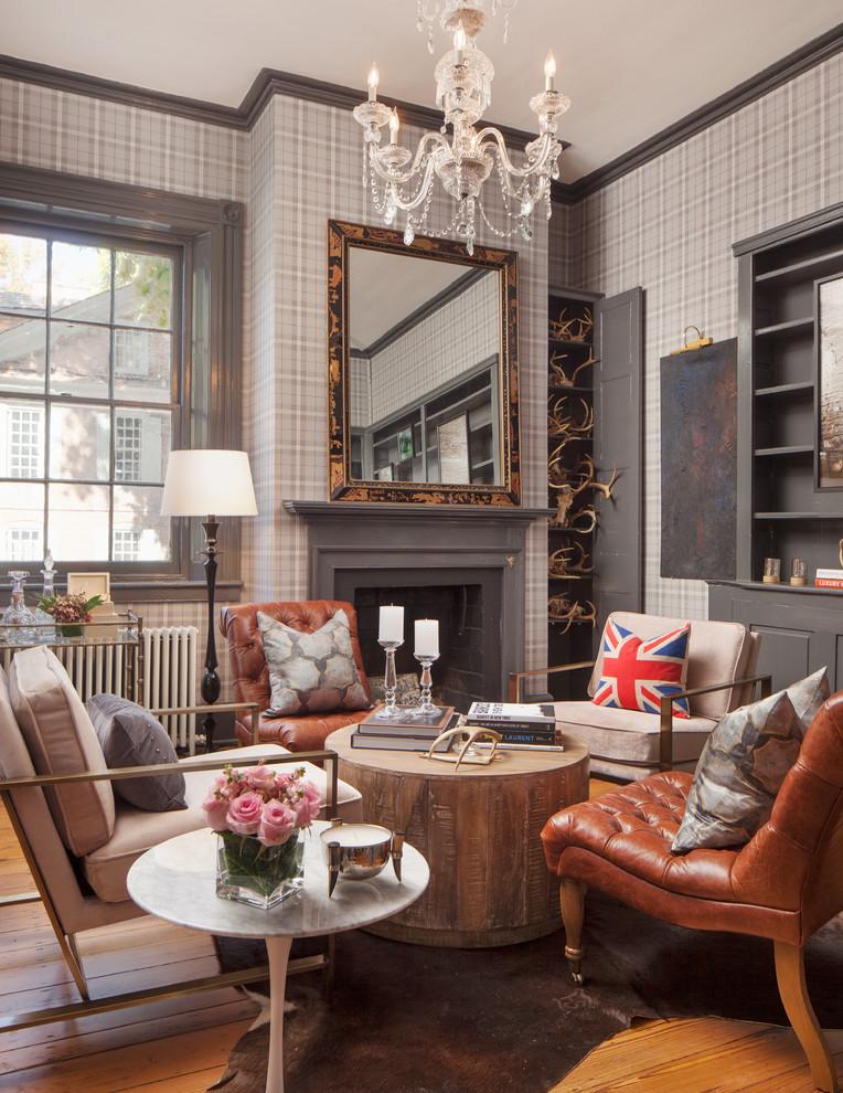 Inspiration for a transitional home design remodel in Philadelphia