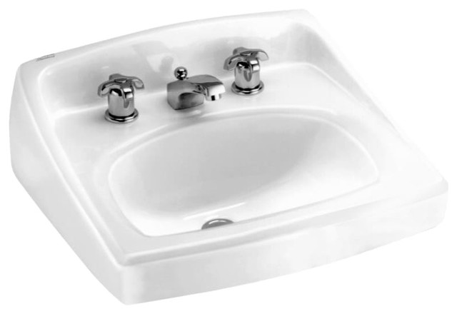 American Standard Lucerne 355.027 Wall Mounted Porcelain Bathroom Sink, White