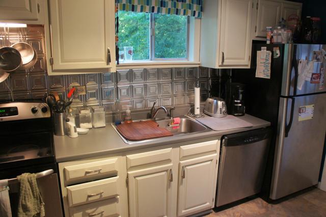 tin backsplash kitchen backsplashes midcentury kitchen tampa