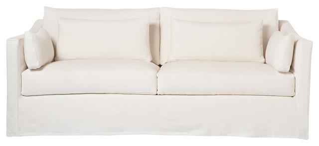 Rebecca Denim Slipcover Sofa, White beach-style-sofas