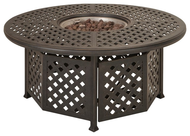 Lovely Moreaux Fire Pit Table Outdoor Dining Tables