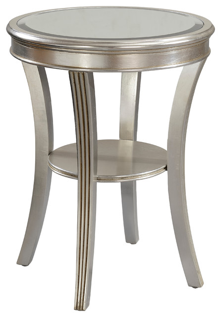 Accent Table, Kenney Silver Leaf Finish