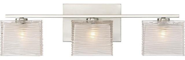 Westcap 3 Light Bath Lighting in Brushed Nickel