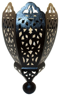 Moroccan Rustic Iron Wall Sconce Mediterranean Wall