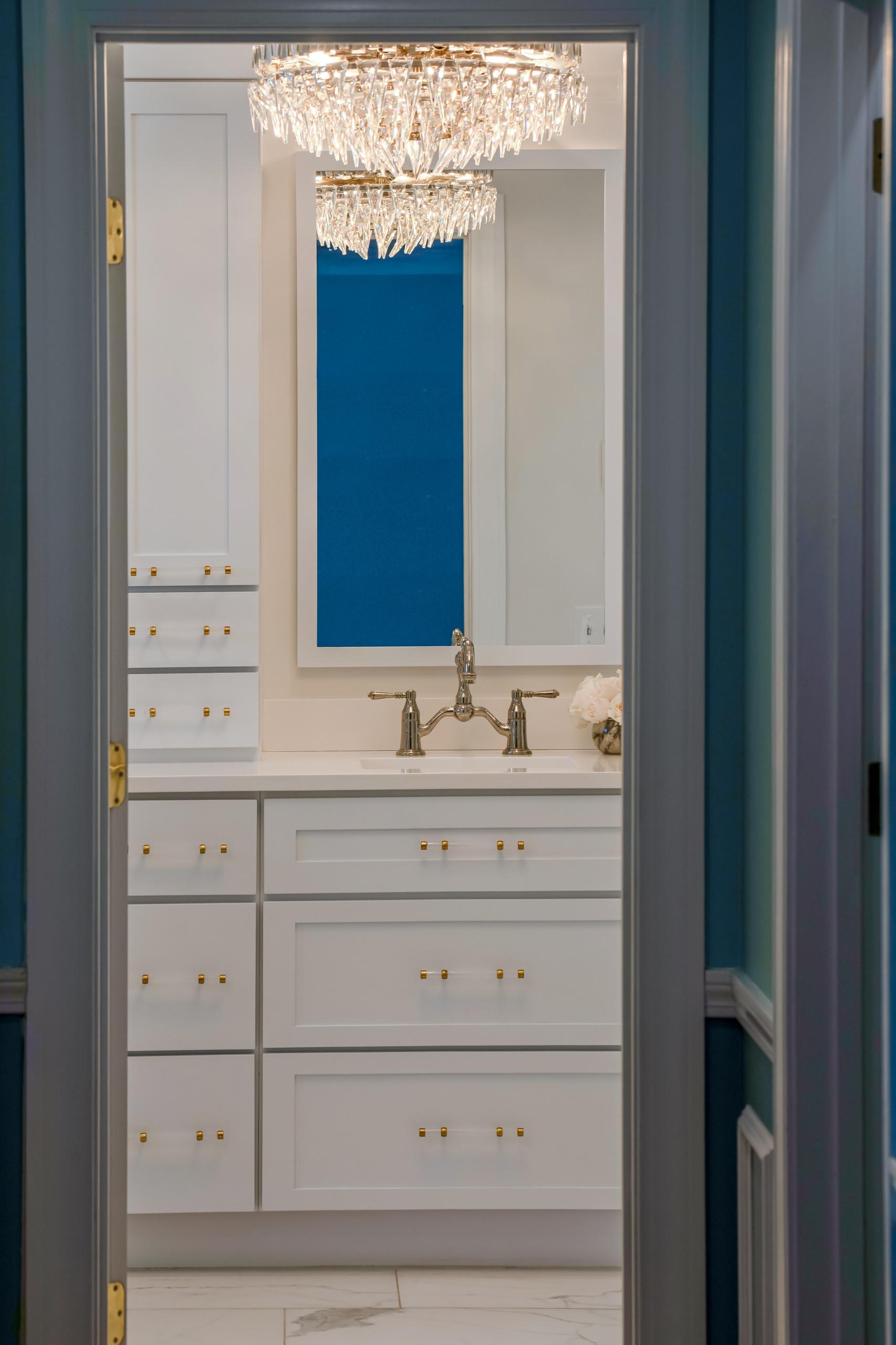 White & Gold Master Bathroom