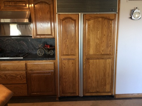 What to do with oak kitchen cabinets without getting rid of the oak.