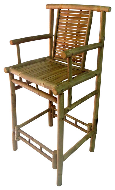 Excellent Bamboo Tahiti Bar Stools With Back Support And Arm Rest 20Wx46H Set Of 2 Ocoug Best Dining Table And Chair Ideas Images Ocougorg