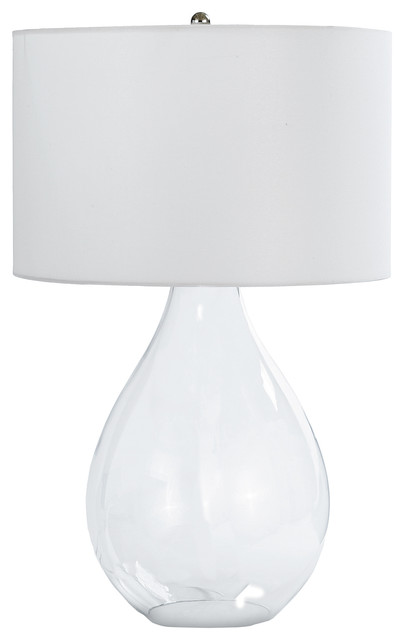 Stuart Beach Modern Clear Glass Paisley Lamp.