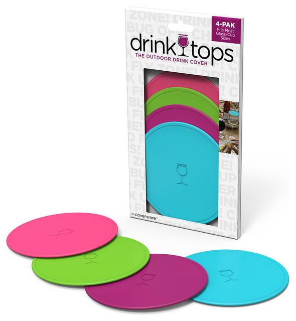 Drinktops Mod Outdoor Drink Cover Set Of 4
