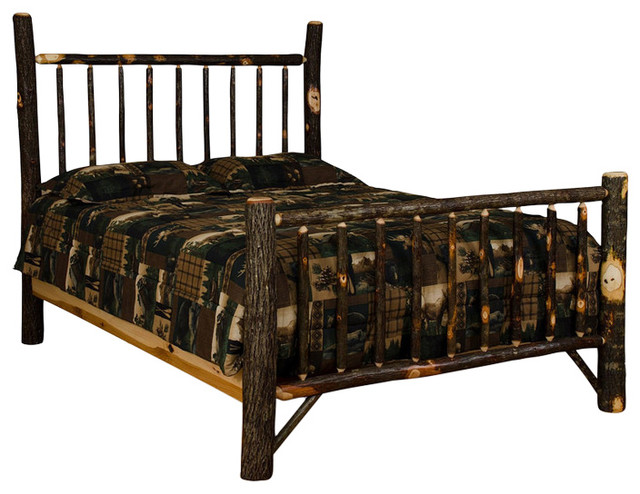 Rustic hickory mission style bed rustic bed frames Rustic bed frames