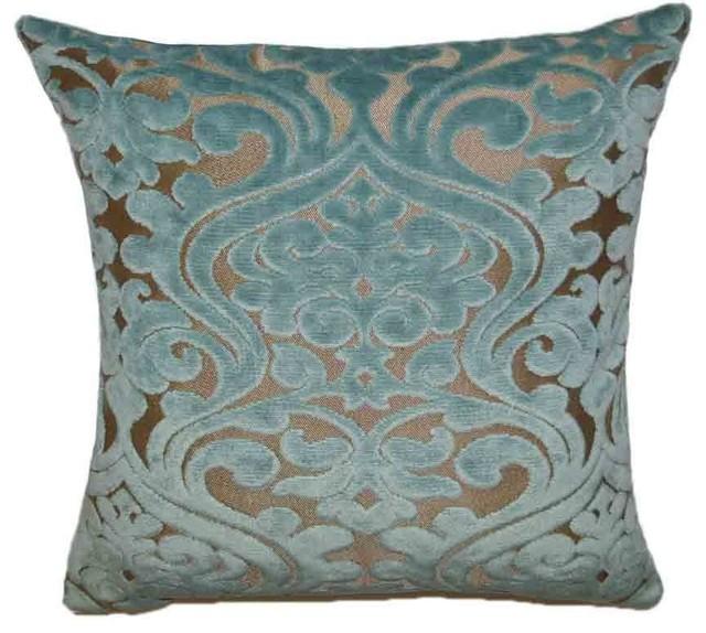 Damascus Decorative Throw Pillow - Traditional - Decorative Pillows - by Van Ness Studio