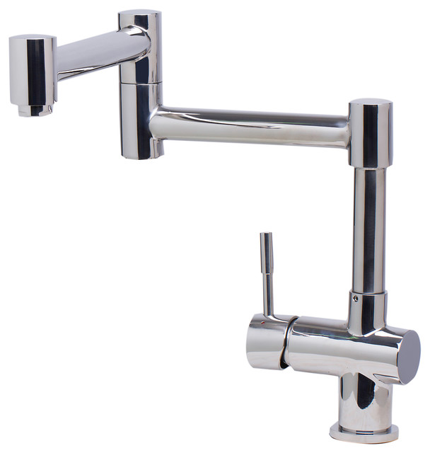 Alfi Brand Ab2038 Pss Polished Stainless Steel Retractable Kitchen Faucet