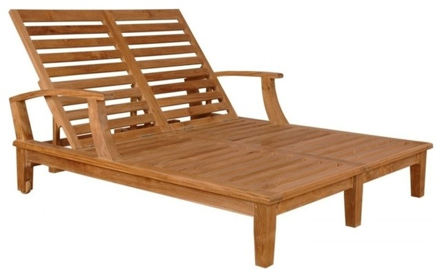 Brianna double wide 2 person sun lounger traditional for 2 person outdoor chaise lounge