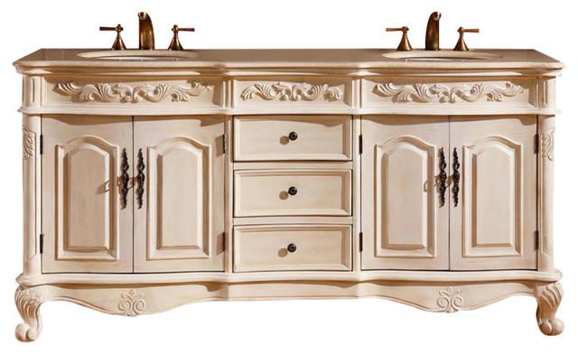"""Arielle Double Sink Bathroom Bathroom Vanity, 72""""."""