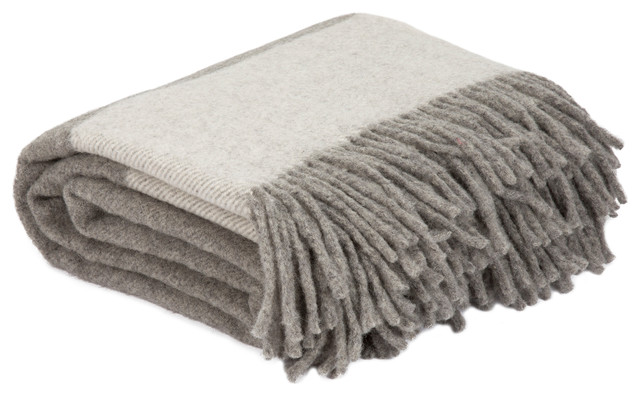 100% Australian Wool Throw, Platinum.