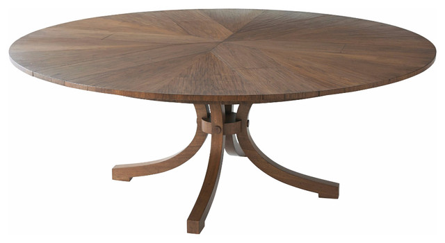 Modern Round Extension Dining Table