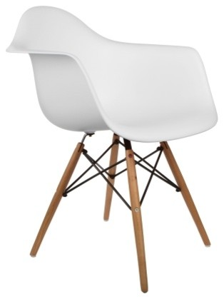 Poly And Bark Vortex Arm Chair, White.