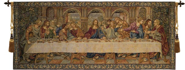 The Last Supper Vii Tapestry Wall Hanging.