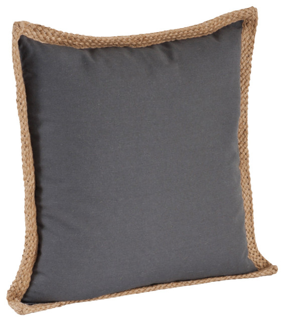 20 Quot Jute Braided Cotton Throw Pillow Down Filler Included
