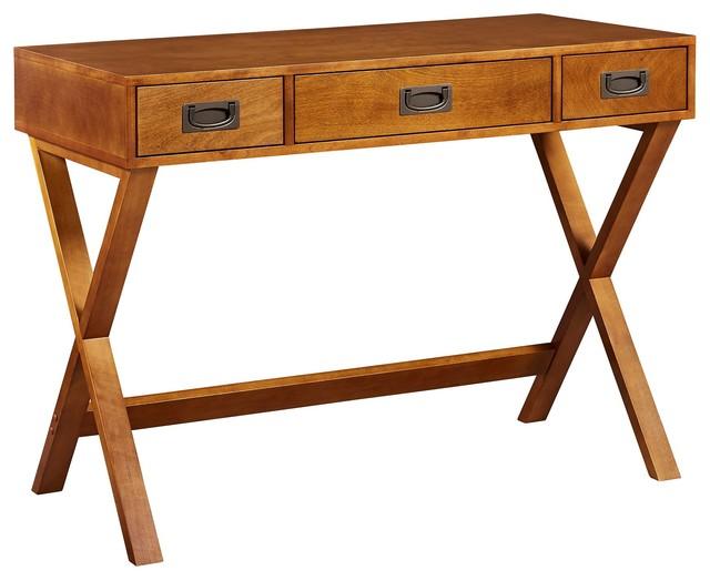 Versanora Bedford Stylish Wooden Desk Storage Table Drawers Walnut