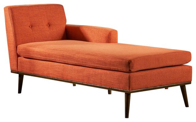 Sophia Mid-Century Modern Fabric Chaise Lounge ...