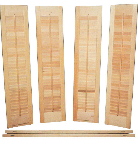 Interior Shutter Kit, Unfinished Wood