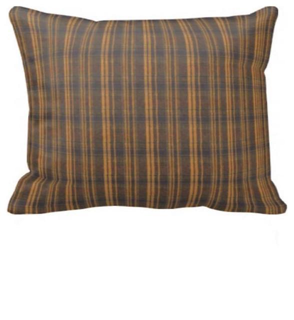Patch Magic Dark Brown Plaid Pillow Sham 27 X21 View
