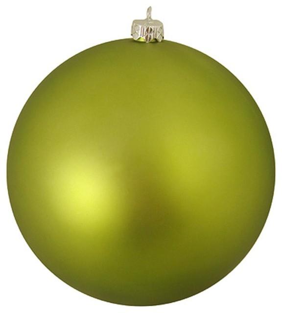 6 shatterproof splendor commercial christmas ball ornament green kiwi