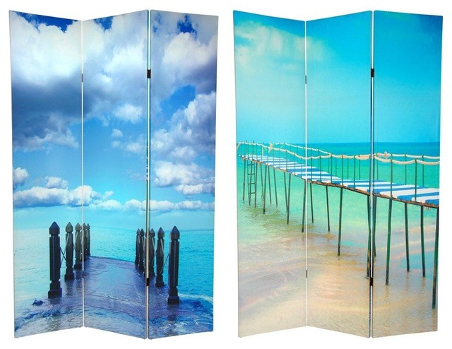6 Tall Double Sided Ocean Room Divider