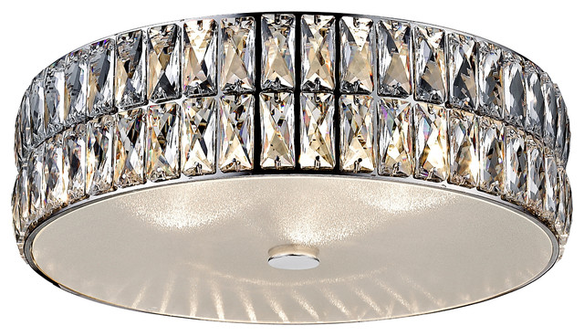 Magari 15 27.5w 1 Led Flush Mount Stainless Steel Frosted Glass Acryl.