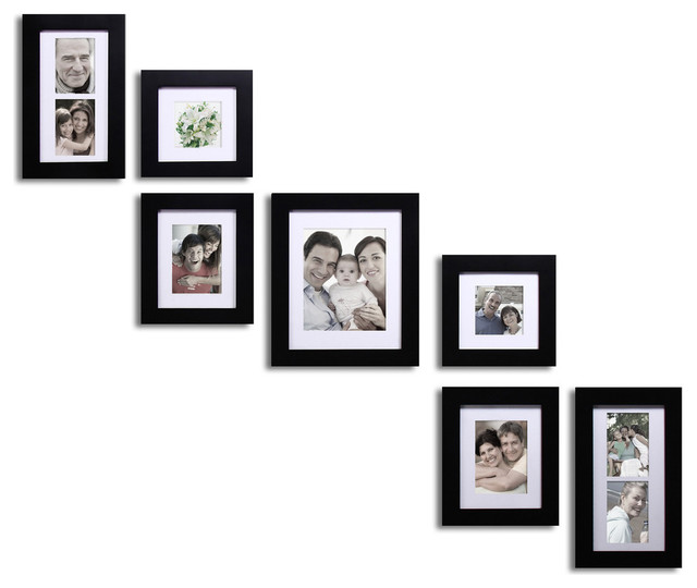 7 piece collage picture frame contemporary picture for Modern collage frame