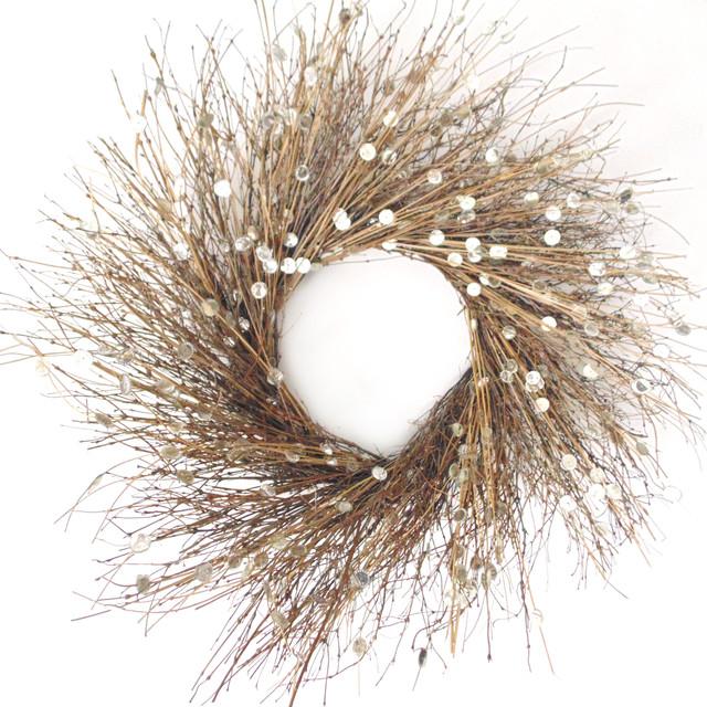 Large Natural Sparkles Wreath.