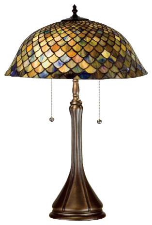 Meyda Tiffany Lamps Table Lamp Mahogany Bronze