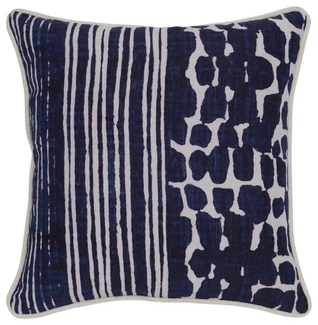Kosas Home Tanza Linen Pillow, Blue.