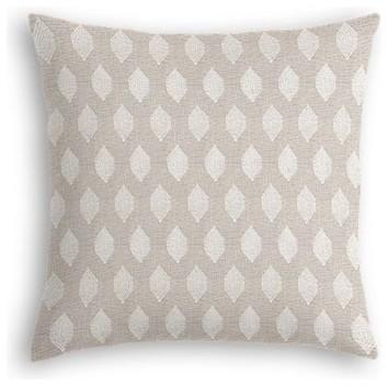 Light Taupe Diamond Throw Pillow