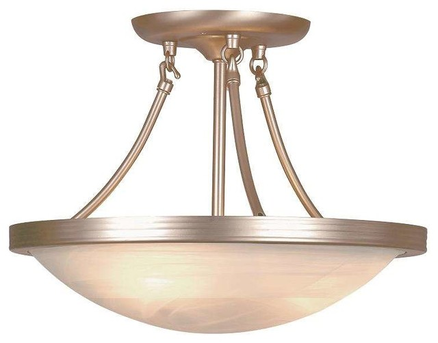 Trans Globe Lighting 6210 Bn Semi Flushmount In Brushed Nickel.