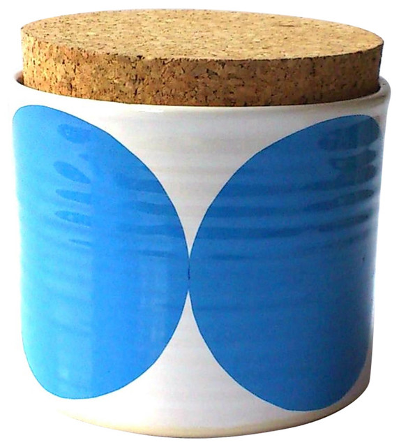 Spots Tea Jar, Blue