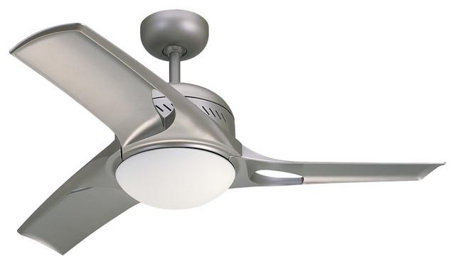 Mach Two 1-Light Indoor Ceiling Fans, Titanium.