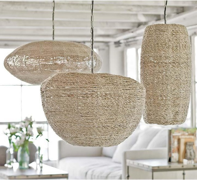 regina andrew apple saucer and cigar jute pendants beach style pendant lighting by candelabra. Black Bedroom Furniture Sets. Home Design Ideas